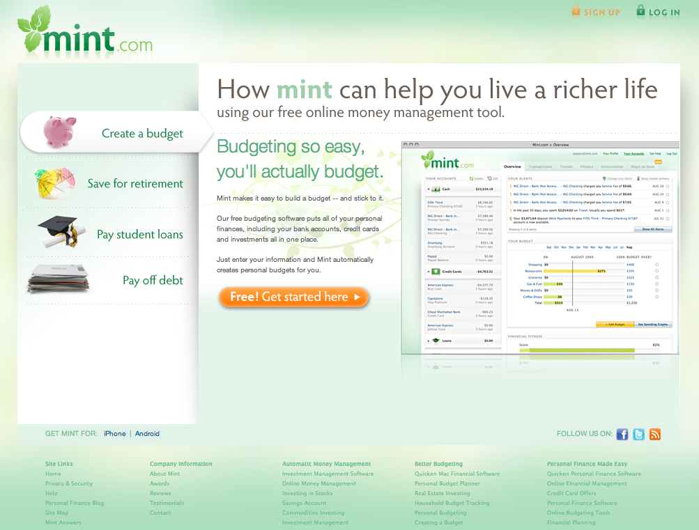 Mint- Personal finance | Cyber Sytes Inc