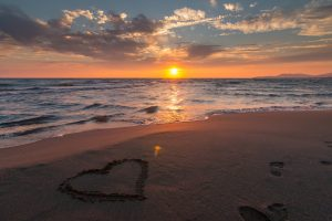 Panama City Beach with a heart in the sand because we love these website designs