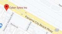 Cyber Sytes Map - Find the best web design and SEO near me in nearby Panama City Beach, FL